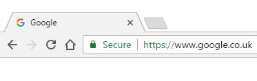Website secured by SSL certificate